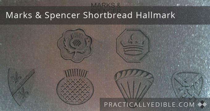 Marks and Spencer Scottish Shortbread back of tin