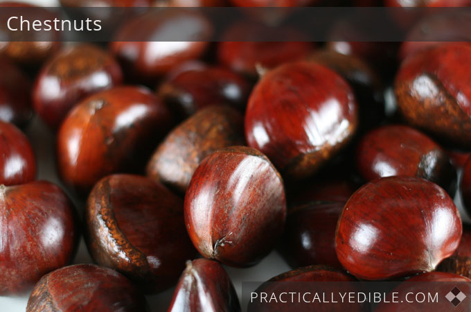 Chestnuts in shell